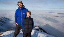 Sebastian und Luca auf dem Gipfel der Brecherspitze