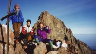 Drei Jungs auf dem Point Lenana, Mt. Kenya