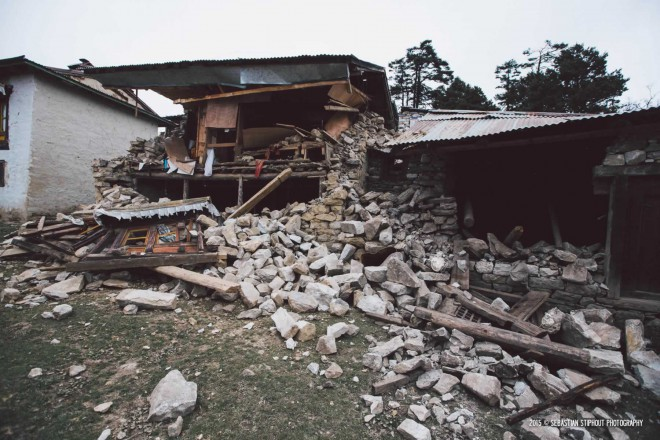 Tingboche monastary, damaged extensively by the 2015 earthquake in Nepal