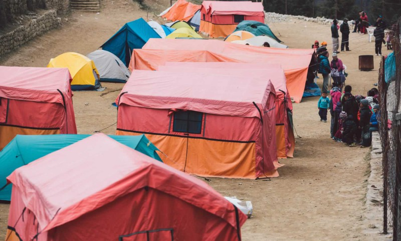 Tent camp in Namche Bazaar