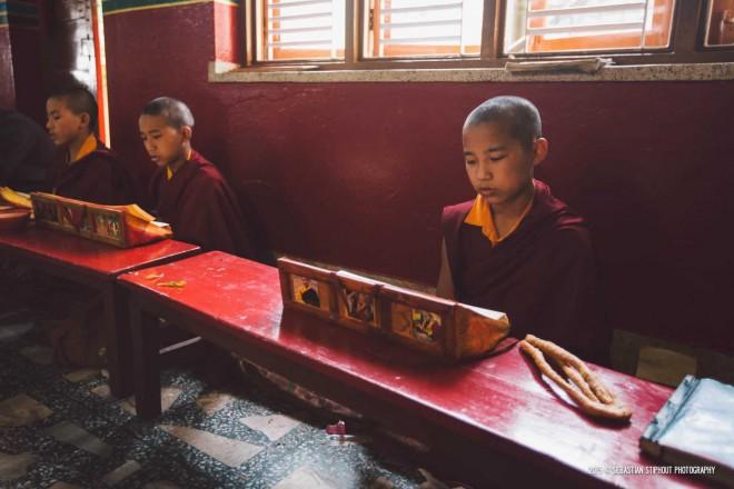 Even little monks partake